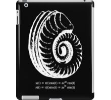 Spiral Shell with Math (white) iPad Case/Skin