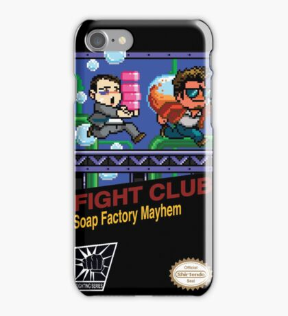 Fight Club 8 bit Style iPhone Case/Skin