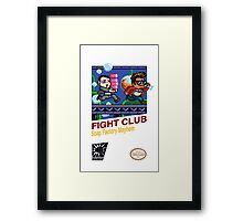 Fight Club 8 bit Style Framed Print