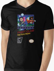Fight Club 8 bit Style Mens V-Neck T-Shirt