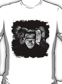 Classic Monsters Black & White POP! T-Shirt