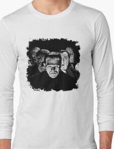 Classic Monsters Black & White POP! Long Sleeve T-Shirt