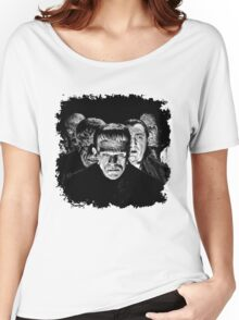 Classic Monsters Black & White POP! Women's Relaxed Fit T-Shirt