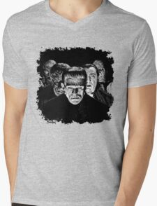 Classic Monsters Black & White POP! Mens V-Neck T-Shirt