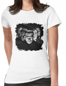 Classic Monsters Black & White POP! Womens Fitted T-Shirt