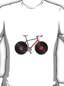 Vinyl Ride Record Bike T-Shirt