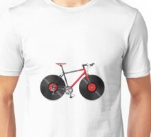 Vinyl Ride Record Bike Unisex T-Shirt