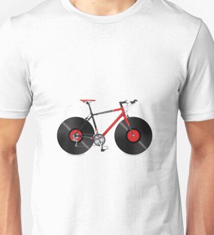 Vinyl Ride Record Bike Unisex T-Shirt