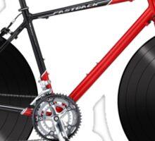 Vinyl Ride Record Bike Sticker