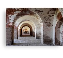 Arches of Fort Pulaski Canvas Print