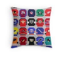 8-Bit Hockey Jerseys Throw Pillow