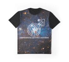 Men's Rights Activism Universe Galaxy Print Graphic T-Shirt