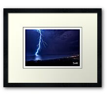 SPRING LIGHTNING OVER PORT PHILLIP Framed Print