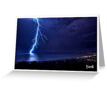 SPRING LIGHTNING OVER PORT PHILLIP Greeting Card