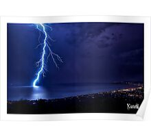 SPRING LIGHTNING OVER PORT PHILLIP Poster