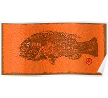 TAUTOG ON SIENNA  THAI UNRYU PAPER Poster