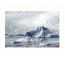 Cierva Cove with Iceberg & Glaciers  Art Print