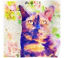 Tortie Mash Mixed Media Poster