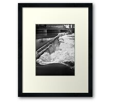 Falls Just Above the Rapids and Great Falls, Passaic River Framed Print