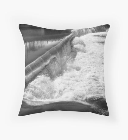 Falls Just Above the Rapids and Great Falls, Passaic River Throw Pillow