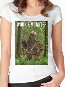 Wookie Monster Women's Fitted Scoop T-Shirt