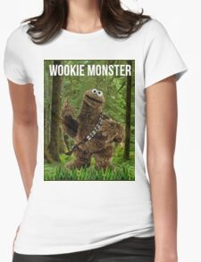 Wookie Monster Womens Fitted T-Shirt