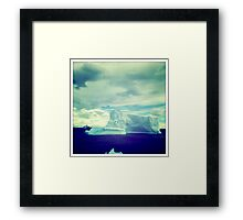 Blue Iceberg Framed Print