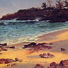 Bierstadt Albert, Bahama Cove. Landscape oil paining vintage fine art. by naturematters