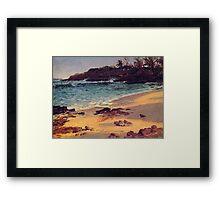 Bierstadt Albert, Bahama Cove. Landscape oil paining vintage fine art. Framed Print