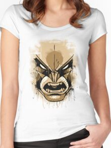 wolverine face Women's Fitted Scoop T-Shirt