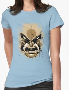 wolverine face Womens Fitted T-Shirt