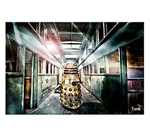 Dalek -  in the hallway. Photographic Print