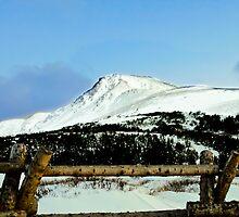 Snowy mountain top by raymona pooler