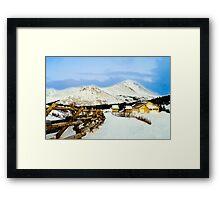 Mountain top cabin Framed Print