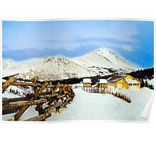Mountain top cabin Poster