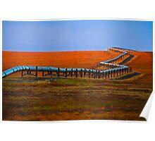 Alaska oil pipeline Poster