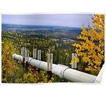 Alaska pipeline wilderness Poster