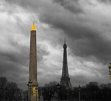 Paris Columns by Chris Hood