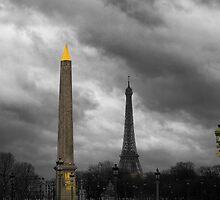 Paris Columns by Chris Hood
