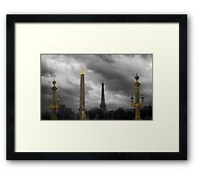 Paris Columns Framed Print