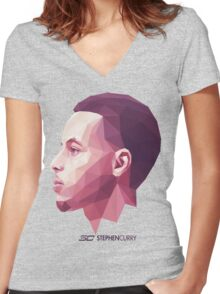 Stephen Curry Women's Fitted V-Neck T-Shirt