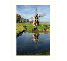 Windmill in duplicate Art Print