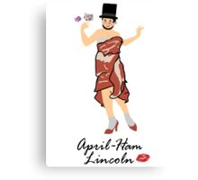 April-ham Lincoln Canvas Print