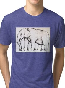 Elephant Optical Illusion Tri-blend T-Shirt