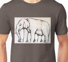Elephant Optical Illusion Unisex T-Shirt