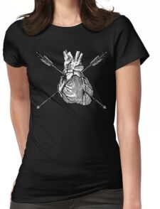 Valentine Heart With Arrows Womens Fitted T-Shirt