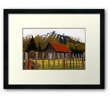Wlderness home Alaska Framed Print