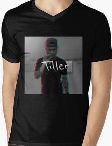 """""""Tiller"""" 3D Graphic Mens V-Neck T-Shirt"""