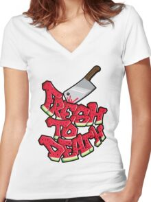 Fresh 2 death Women's Fitted V-Neck T-Shirt