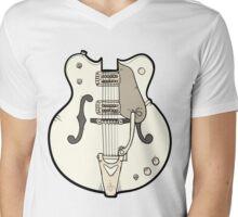 Hollow body Mens V-Neck T-Shirt